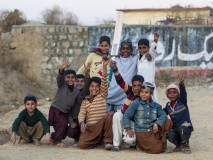 Boys cricket team in Rawalpindi, Pakistan 2015